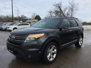 Used 2013 Ford EXPLORER LIMITED * AWD * LEATHER * NAV * REAR CAM * PANO SUNROOF * BLUETOOTH * SAT RADIO SYSTEM * 7 PASS for sale in London, ON