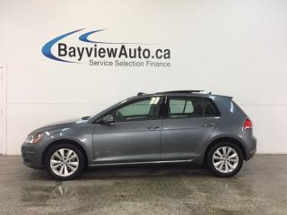 Used 2015 Volkswagen Golf COMFORTLINE- TDI|ROOF|HTD LTHR|REV CAM|BLUETOOTH! for sale in Belleville, ON
