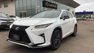 Used 2016 Lexus RX 450h F SPORT SERIES 3 for sale in Brampton, ON