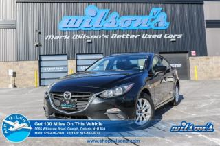 Used 2015 Mazda MAZDA3 GS SEDAN! PUSH BUTTON START! BLUETOOTH! CRUISE CONTROL! POWER PACKAGE! KEYLESS ENTRY! ALLOYS! for sale in Guelph, ON