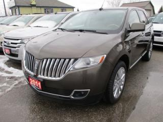 Used 2011 Lincoln MKX LOADED ALL-WHEEL DRIVE 5 PASSENGER 3.7L - V6.. LEATHER.. HEATED/AC SEATS.. THX AUDIO.. NAVIGATION.. BACK-UP CAMERA.. DUAL POWER SUNROOF.. for sale in Bradford, ON