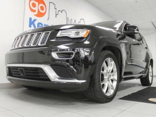 Used 2015 Jeep Grand Cherokee Summit 4x4 with NAV, twin panel sunroof, heated/cooled power leather seats and heated steering wheel. Doesn't get better for sale in Edmonton, AB