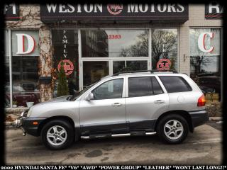 Used 2002 Hyundai Santa Fe GLS*V6*AWD*PWR GRP*LEATHER*CERTIFIED*A MUST SEE!!* for sale in York, ON