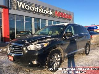 Used 2013 Infiniti JX35 Base  - Leather Seats -  Sunroof - $192.98 B/W for sale in Woodstock, ON