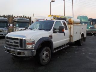 Used 2009 Ford F-550 4 Wheel Drive SuperCab Dually Diesel Service Truck with Crane for sale in Burnaby, BC