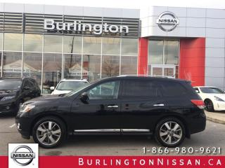 Used 2015 Nissan Pathfinder PLATINUM, NAVi, ACCIDENT FREE ! for sale in Burlington, ON