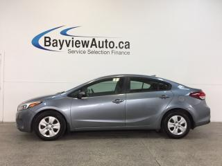 Used 2017 Kia Forte LX- AUTO|HTD STS|A/C|REV CAM|BLUETOOTH|CRUISE! for sale in Belleville, ON
