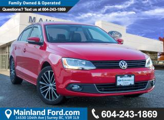 Used 2014 Volkswagen Jetta 1.8 TSI Highline LOW KMS, LOCAL for sale in Surrey, BC