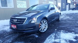 Used 2015 Cadillac ATS Luxury AWD-NAVIGATION-SUNROOF-HEATED SEATS for sale in Tilbury, ON
