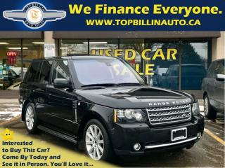 Used 2012 Land Rover Range Rover Supercharged, Fully Loaded, 2 Years WARRANTY for sale in Concord, ON