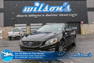 Used 2014 Volvo S60 T5 AWD! LEATHER! NAVIGATION! SUNROOF! REAR CAMERA! HEATED SEATS! BLUETOOTH! CRUISE CONTROL! ALLOYS! for sale in Guelph, ON