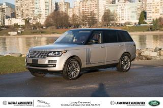 Used 2015 Land Rover Range Rover V8 Autobiography Supercharged LWB *Certified Pre-Owned! for sale in Vancouver, BC