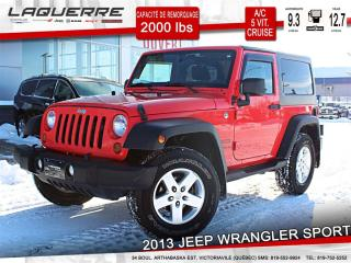 Used 2013 Jeep Wrangler Sport A/c 2 Toits for sale in Victoriaville, QC