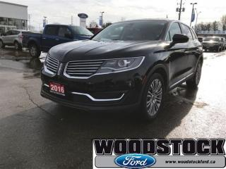 Used 2016 Lincoln MKX Reserve 3.7L, Driver Assistance Package for sale in Woodstock, ON
