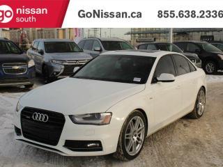 Used 2013 Audi A4 2.OT: PREMIUM PLUS, S-LINE, QUATTRO, SUNROOF!! for sale in Edmonton, AB