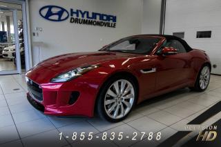 Used 2014 Jaguar F-Type *RÉSERVÉ* V6 + CABRIOLET + CUIR + NAVI + for sale in Drummondville, QC