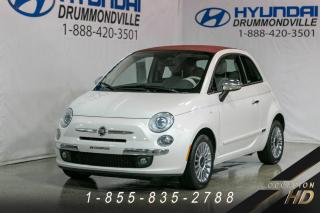 Used 2012 Fiat 500 LOUNGE + CABRIO + CUIR + BOSE + CRUISE + for sale in Drummondville, QC