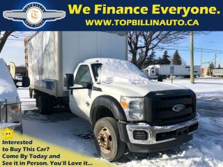 Used 2011 Ford F-550 Chassis CAB 16' Cube Van, Power Lift, Diesel for sale in Concord, ON