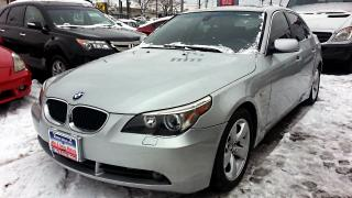 Used 2006 BMW 5 Series 525I, LEATHER,S-ROOF, Accident-Free for sale in North York, ON