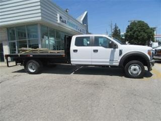 Used 2017 Ford F-550 Crew Cab 4x4 diesel with 12 ft flat deck for sale in Richmond Hill, ON