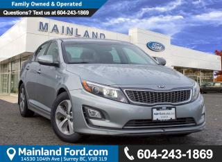 Used 2014 Kia Optima Hybrid LX LOCAL for sale in Surrey, BC