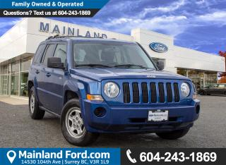 Used 2010 Jeep Patriot Sport/North LOCAL for sale in Surrey, BC