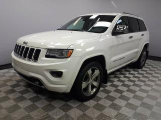 Used 2015 Jeep Grand Cherokee Overland 5.7L HEMI - Local One Owner Trade In | No Accidents | 3M Protection Applied | 2 Sets of Tires | Navigation | Back Up Camera | Parking Sensors | Panoramic Sunroof | Trailer Package | 20 Inch Wheels | Air Suspension | Adjustable Drive Modes | Radar for sale in Edmonton, AB