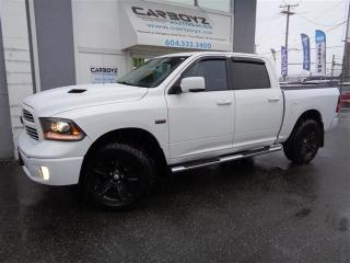 Used 2014 Dodge Ram 1500 Sport Crew 4x4, Nav, Leather, Sunroof, Level Kit for sale in Langley, BC