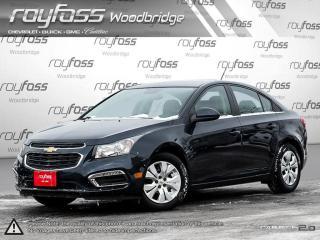 Used 2015 Chevrolet Cruze LT. REMOTE START. BACKUP CAM for sale in Woodbridge, ON