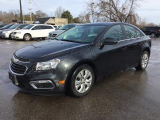 Used 2015 Chevrolet CRUZE 1LT * REAR CAM * BLUETOOTH * PREMIUM CLOTH SEATING * SAT RADIO SYSTEM * LOW KM for sale in London, ON