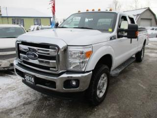 Used 2016 Ford F-250 3/4 TON WORK READY XLT MODEL 6 PASSENGER 6.2L - V8.. 4X4.. CREW.. 8-FOOT BOX.. SYNC TECHNOLOGY.. BACK-UP CAMERA.. for sale in Bradford, ON