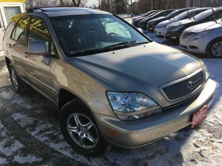 Used 2002 Lexus RX 300 w/Luxury Pkg / Auto / Sunroof / Leather / Alloys for sale in Scarborough, ON