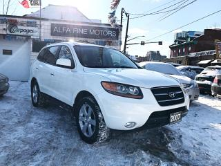 Used 2007 Hyundai Santa Fe Limited AWD Low km!! ((CERTIFIED)) for sale in Hamilton, ON