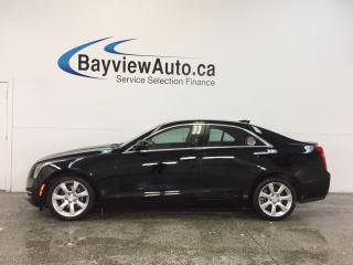 Used 2016 Cadillac ATS LUXURY- AWD|TURBO|HTD LTHR|REV CAM|BOSE|BLUETOOTH! for sale in Belleville, ON