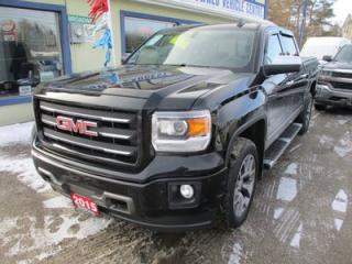 Used 2015 GMC Sierra 1500 LOADED ALL-TERRAIN EDITION 5 PASSENGER 5.3L - V8.. 4X4.. CREW.. SHORTY.. LEATHER.. HEATED SEATS.. SUNROOF.. NAVIGATION SYSTEM.. BACK-UP CAMERA.. for sale in Bradford, ON