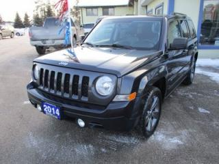 Used 2014 Jeep Patriot LOADED 'HIGH-ALTITUDE' MODEL 5 PASSENGER 2.0L - DOHC.. LEATHER.. HEATED SEATS.. POWER SUNROOF.. CD/AUX INPUT.. KEYLESS ENTRY.. for sale in Bradford, ON