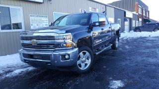 Used 2015 Chevrolet Silverado 2500 LTZ-CREW-DIESEL-4X4-NAV-LEATHER-SUNROOF for sale in Tilbury, ON