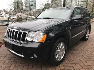 Used 2008 Jeep Grand Cherokee DIESEL, LIMITED, DVD, BACK UP CAMERA for sale in Vancouver, BC
