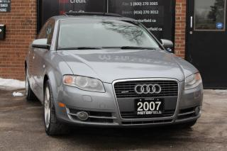 Used 2007 Audi A4 2.0T Quattro AWD *ONTARIO CAR, CERTIFIED, WARRANTY for sale in Scarborough, ON