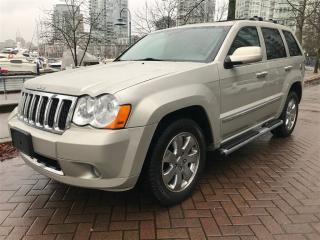 Used 2008 Jeep Grand Cherokee OVERLAND,DIESEL,NO ACCIDENT,NAV,DVD for sale in Vancouver, BC