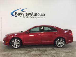 Used 2012 Ford Fusion SEL- AWD|SUNROOF|HTD LTHR|SONY|PARK AID|SYNC! for sale in Belleville, ON
