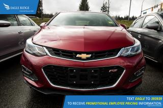 Used 2017 Chevrolet Cruze Premier Auto Leather Heated Seats, Hands Free Calling, Rear Vision Camera for sale in Port Coquitlam, BC