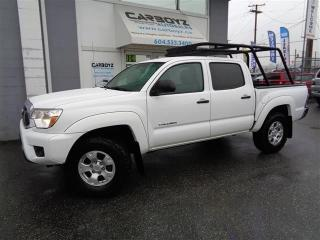 Used 2015 Toyota Tacoma SR5 4x4 V6, Manual, Double Cab, Baha Rack, BFG's for sale in Langley, BC