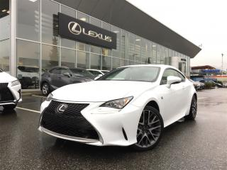 Used 2017 Lexus RC AWD 6A for sale in Surrey, BC
