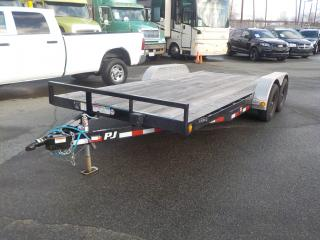 Used 2017 PJ 18 Foot Flat Deck Trailer with Loading Ramps for sale in Burnaby, BC