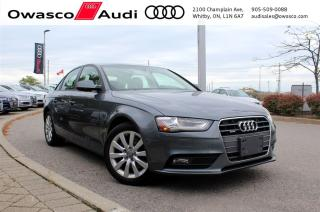 Used 2014 Audi A4 quattro Komfort w/ Bluetooth Connectivity for sale in Whitby, ON