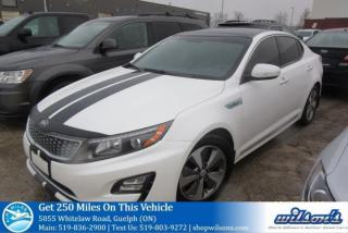Used 2014 Kia Optima EX PREMIUM HYBRID! LEATHER! NAVIGATION! PANORAMIC SUNROOF! BLINDSPOT MONITOR! REAR CAMERA! for sale in Guelph, ON