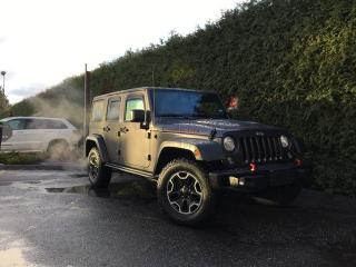 Used 2016 Jeep Wrangler Unlimited Rubicon + NAVI + MAX TOW PACKAGE + CONNECTIVITY GROUP + NO EXTRA DEALER FEES for sale in Surrey, BC
