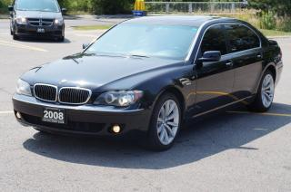 Used 2008 BMW 750Li Fully Loaded Low Km No Accident Mint! for sale in North York, ON
