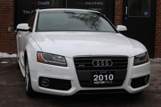 Used 2010 Audi A5 2.0T Quattro S-Line *NO ACCIDENTS, CERTIFIED, 98KM for sale in Scarborough, ON